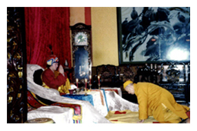 清定法師禮拜第三世多杰羌佛