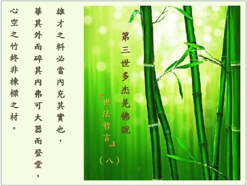 第三世多杰羌佛說《世法哲言》(八)